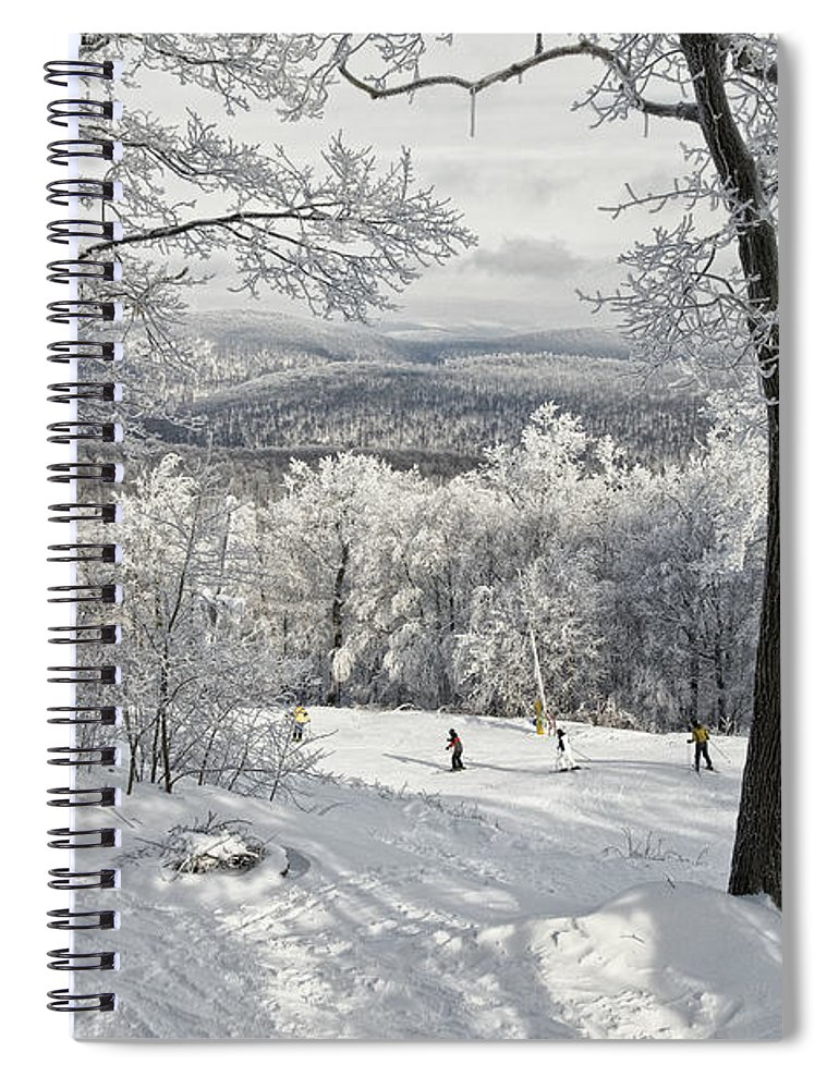 Ski Spiral Notebook featuring the photograph Jack Rabbit by Lois Bryan