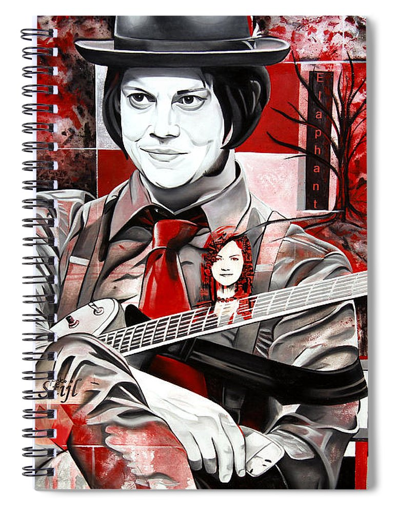 Jack White Spiral Notebook featuring the painting Jack White by Joshua Morton