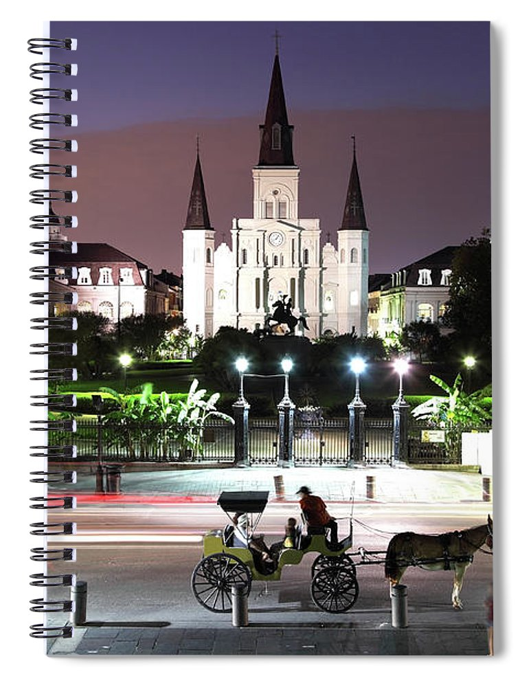 Southern Usa Spiral Notebook featuring the photograph Jackson Square by Denistangneyjr
