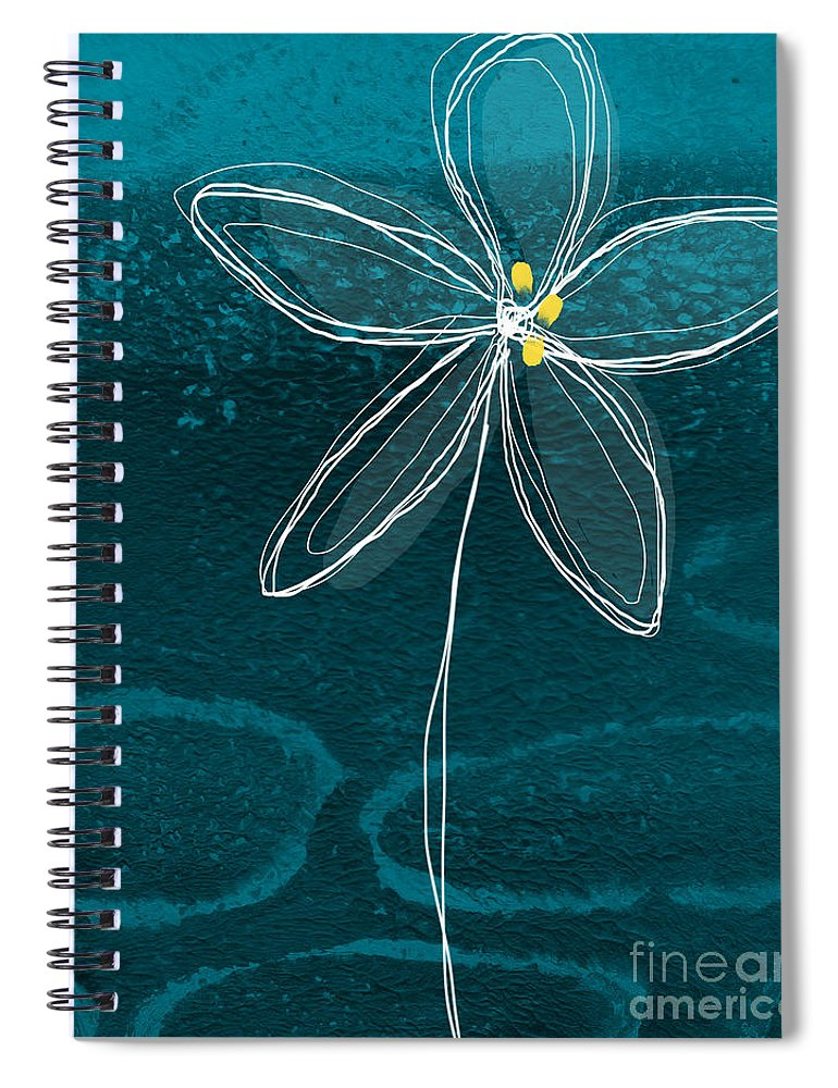 Abstract Spiral Notebook featuring the painting Jasmine Flower by Linda Woods