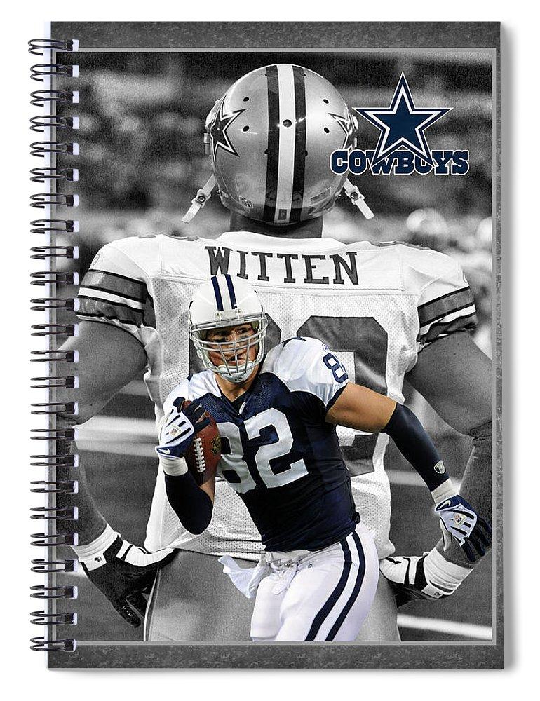 Jason Witten Spiral Notebook featuring the photograph Jason Witten Cowboys by Joe Hamilton