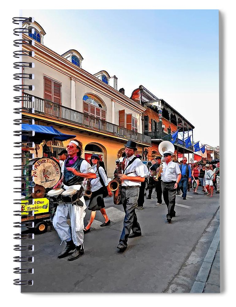 French Quarter Spiral Notebook featuring the photograph Jazz Funeral by Steve Harrington