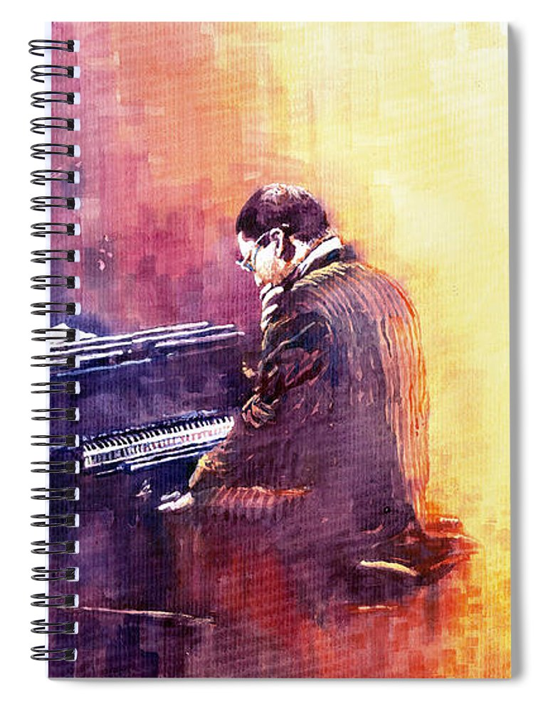Jazz Spiral Notebook featuring the painting Jazz Herbie Hancock by Yuriy Shevchuk