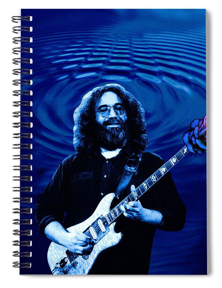 Grateful Dead Spiral Notebook featuring the photograph Blue Ripple Rose by Ben Upham