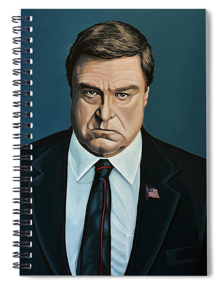 John Goodman Spiral Notebook featuring the painting John Goodman by Paul Meijering