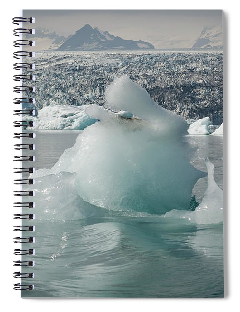 Tranquility Spiral Notebook featuring the photograph Jokularsson Glacier Lagoon by Jamie Gordon
