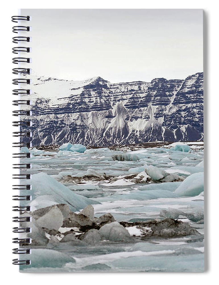 Tranquility Spiral Notebook featuring the photograph Jokulsarlon by Photo By Dave Moore