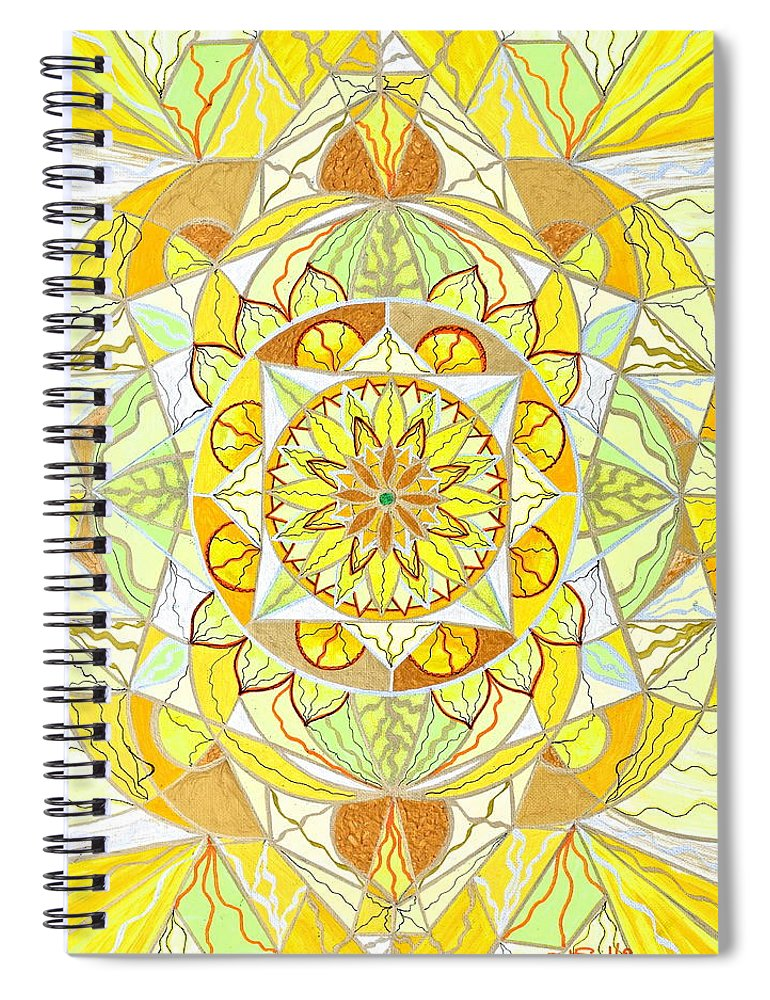 Joy Spiral Notebook featuring the painting Joy by Teal Eye Print Store