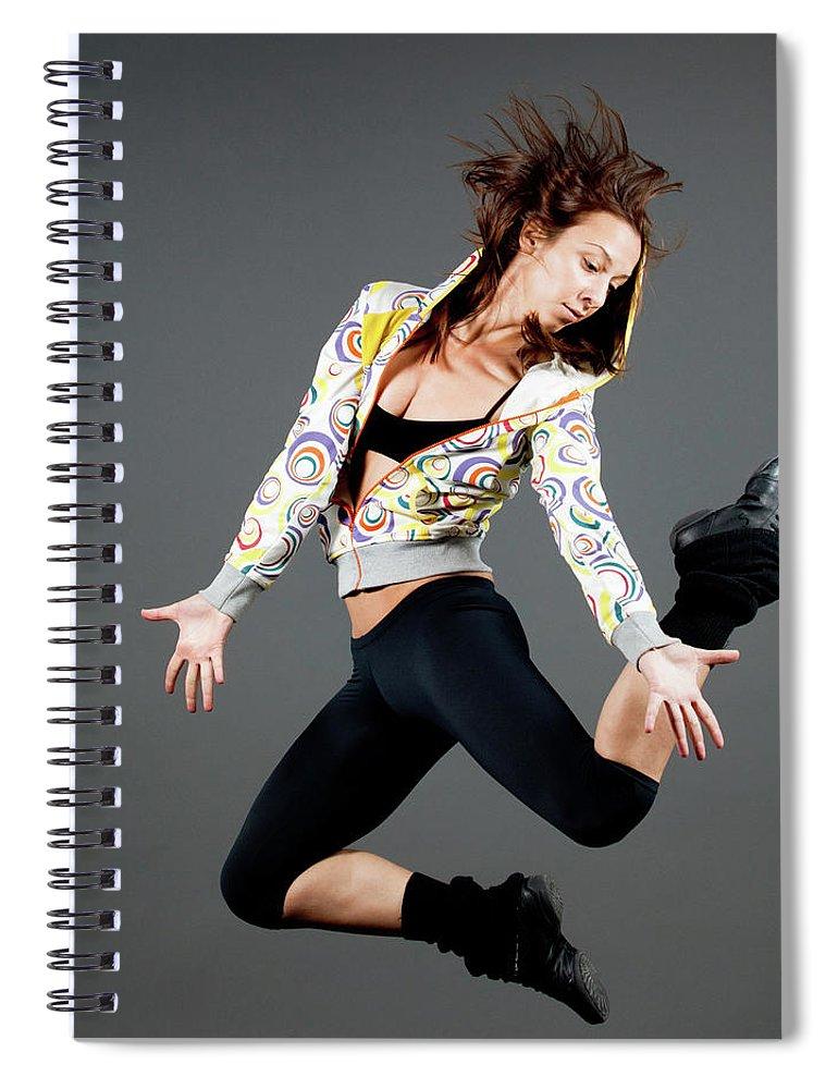 Ballet Dancer Spiral Notebook featuring the photograph Jumping by Lukatdb