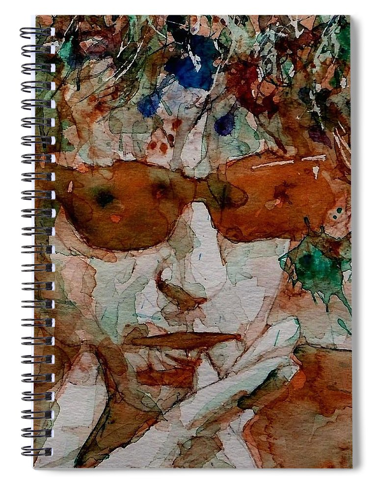 Bob Dylan Spiral Notebook featuring the painting Just Like A Woman by Paul Lovering
