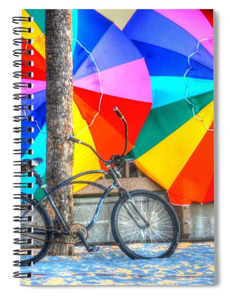 Bike Spiral Notebook featuring the photograph Kaleidoscope by Debbi Granruth