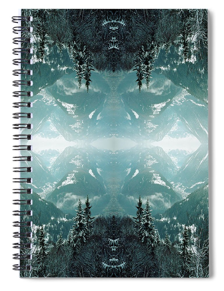 Scenics Spiral Notebook featuring the photograph Kaleidoscope Snowy Trees In Mountains by Silvia Otte