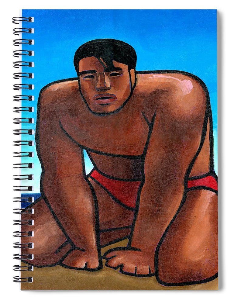 Hawaii Spiral Notebook featuring the painting Kane by Douglas Simonson
