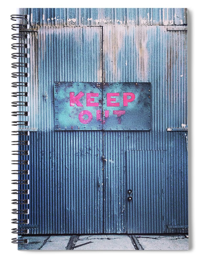 Tranquility Spiral Notebook featuring the photograph Keep Out by Hal Bergman Photography