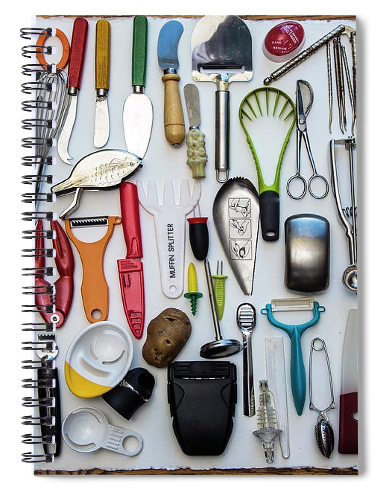 Transfer Print Spiral Notebook featuring the photograph Kitchen Tools by Jill Clardy
