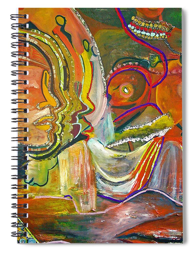 Impressionism Spiral Notebook featuring the painting Koulikoro Woman by Peggy Blood
