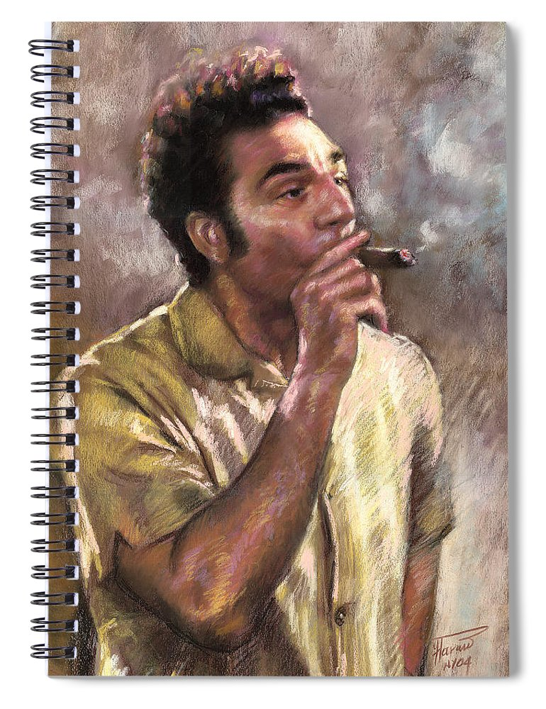 Kramer Spiral Notebook featuring the pastel Kramer by Ylli Haruni
