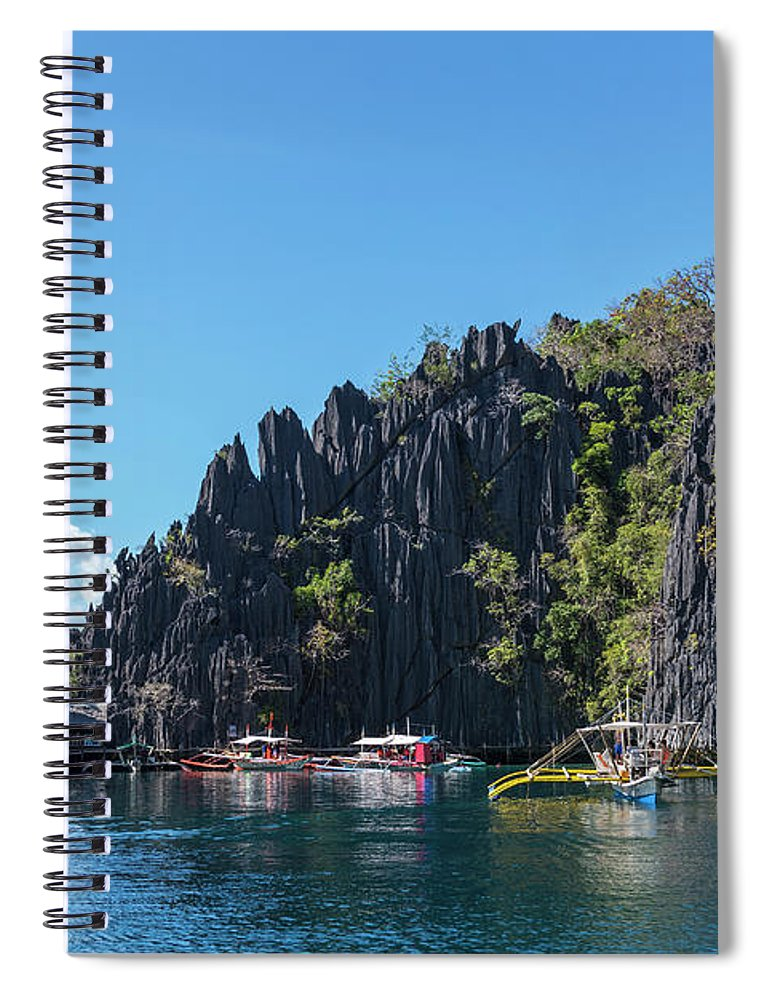 Outdoors Spiral Notebook featuring the photograph Lagoon, Coron, Palawan, Phillippines by John Harper