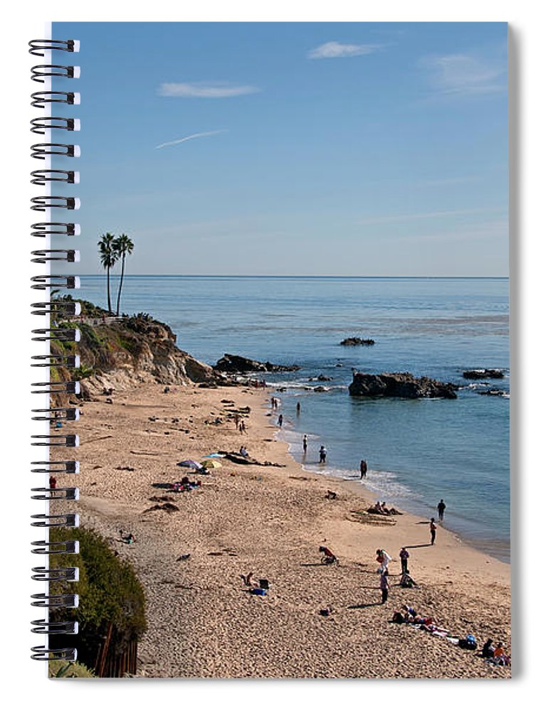 Tranquility Spiral Notebook featuring the photograph Laguna Beach Cove by Mitch Diamond