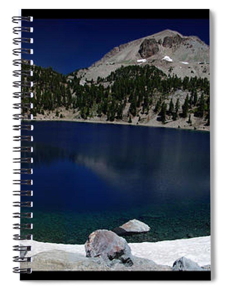 Mirror Spiral Notebook featuring the photograph Lake Helen At Mt Lassen Triptych by Peter Piatt