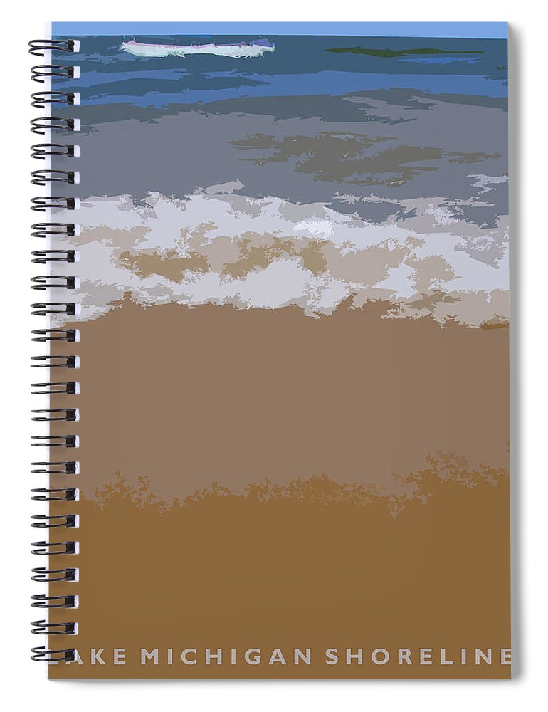 Beach Spiral Notebook featuring the photograph Lake Michigan Shoreline by Michelle Calkins