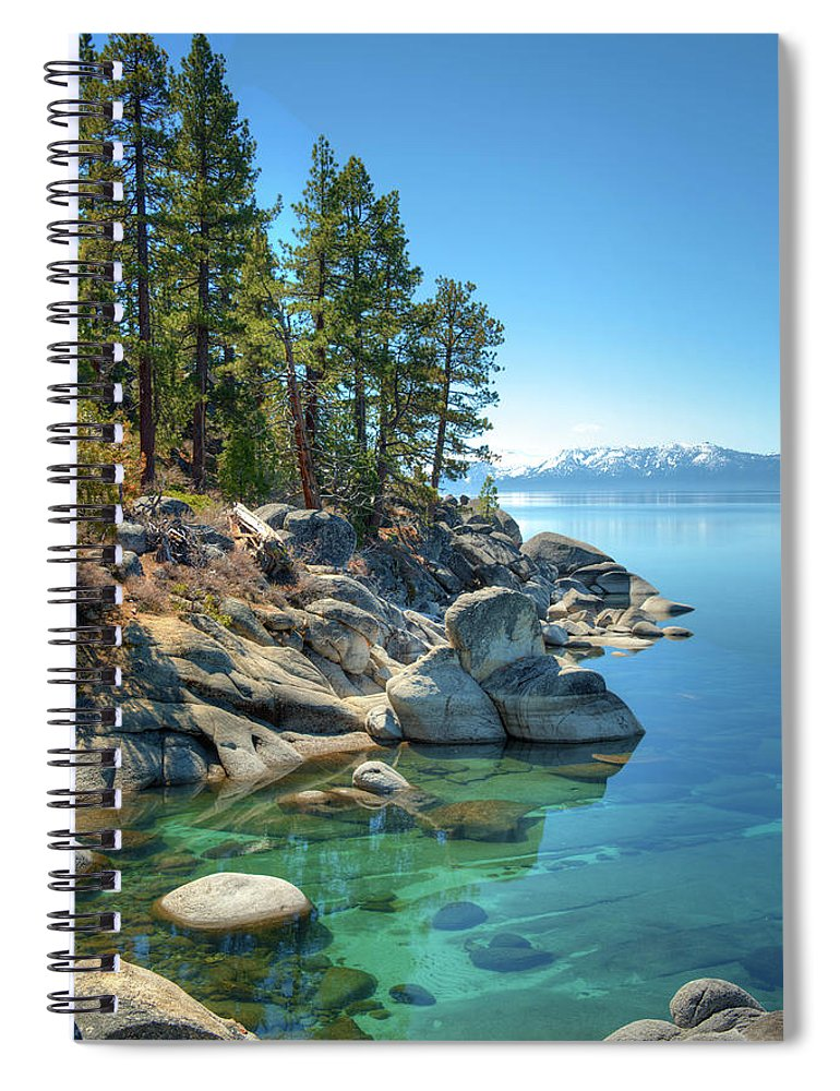 Scenics Spiral Notebook featuring the photograph Lake Tahoe, The Rugged North Shore by Ed Freeman