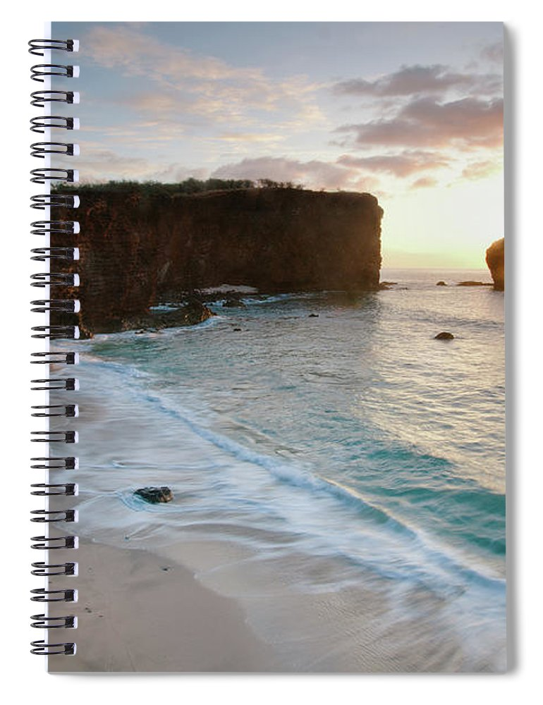 Scenics Spiral Notebook featuring the photograph Lanai Sunset Resort Beach by M Swiet Productions