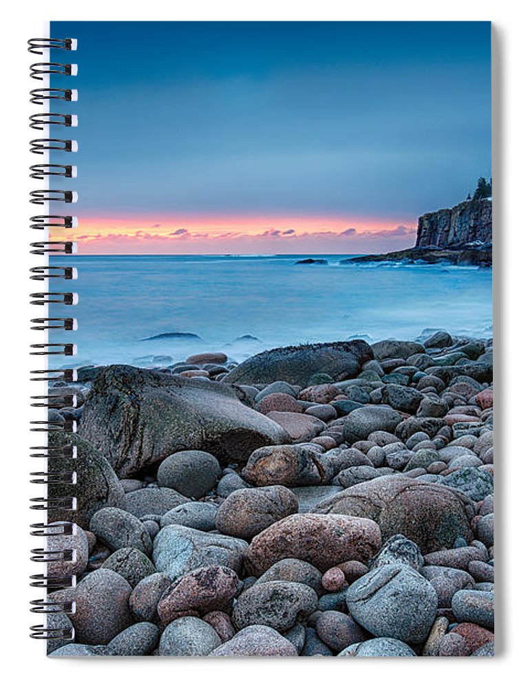 Acadia Spiral Notebook featuring the photograph Land Of Sunrise by Evelina Kremsdorf