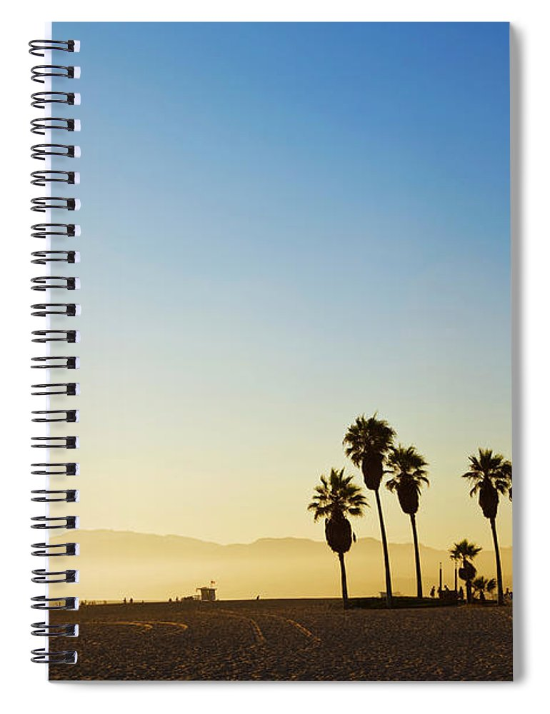Santa Monica Mountains Spiral Notebook featuring the photograph Landscape Image Of Venice Beach by Bluehill75