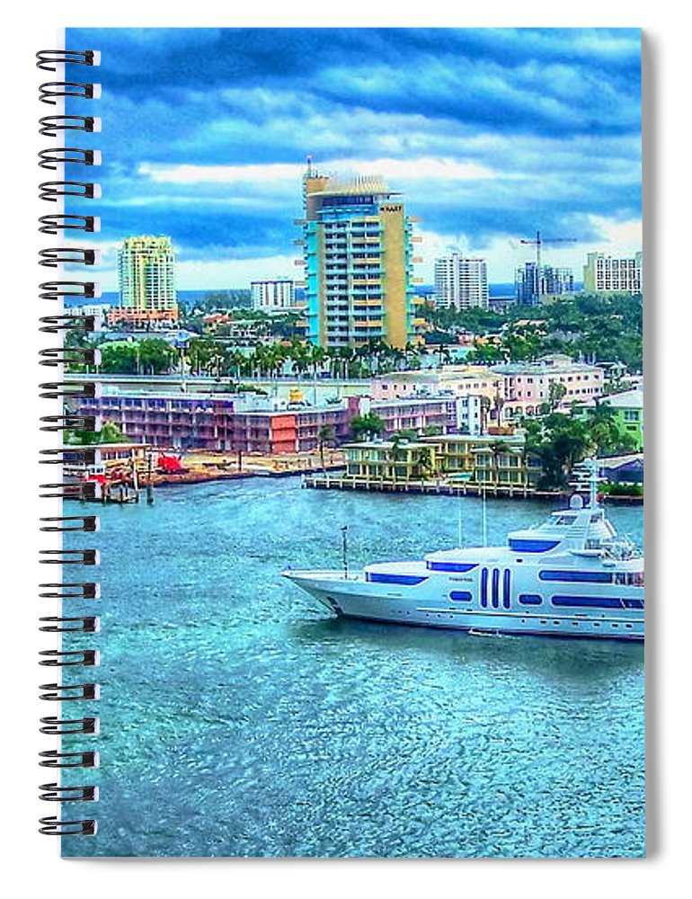 Ft. Lauderdale Spiral Notebook featuring the photograph Lauderdale by Debbi Granruth