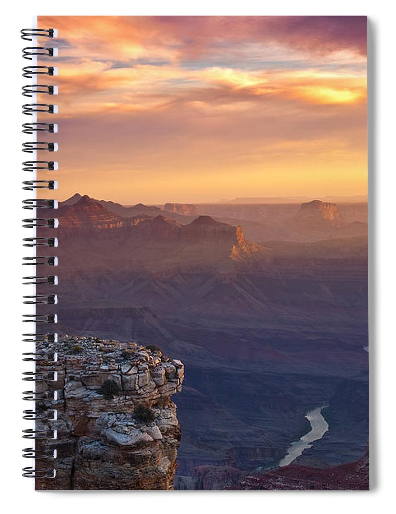 Sunrise Spiral Notebook featuring the photograph Le Grand Sunrise by Darren White