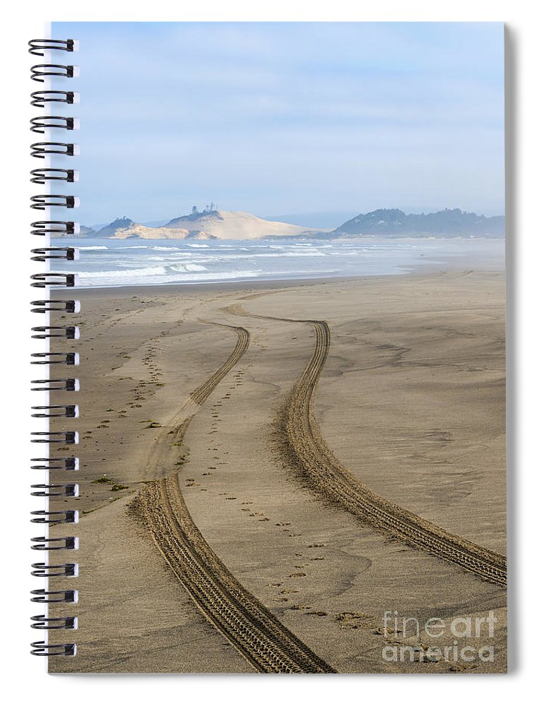 Tracks Spiral Notebook featuring the photograph Leading To The Cape by Mike Dawson