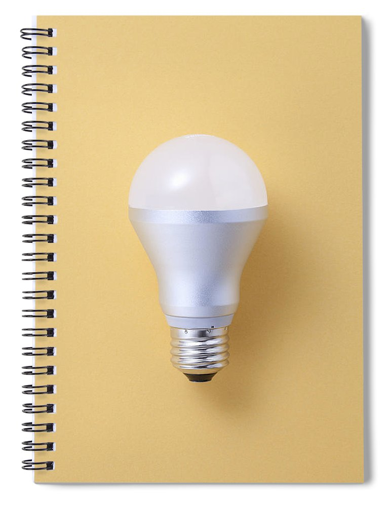 Environmental Conservation Spiral Notebook featuring the photograph Led Bulb by Imagenavi