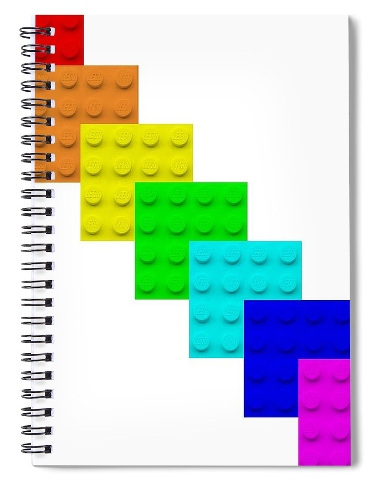 Lego Spiral Notebook featuring the photograph Lego Box White by Rob Hans