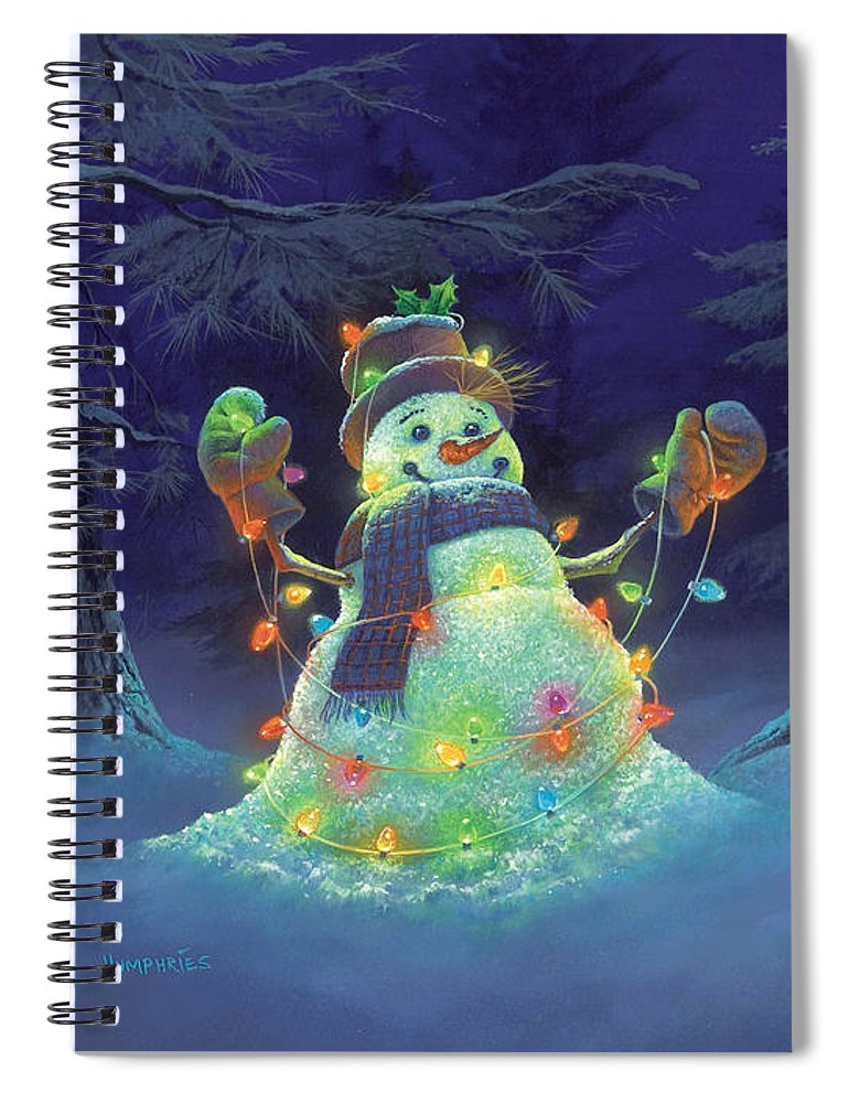 Michael Humphries Spiral Notebook featuring the painting Let it Glow by Michael Humphries