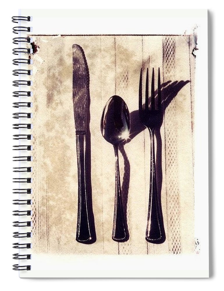 Forks Spiral Notebook featuring the photograph Lets Eat by Jane Linders