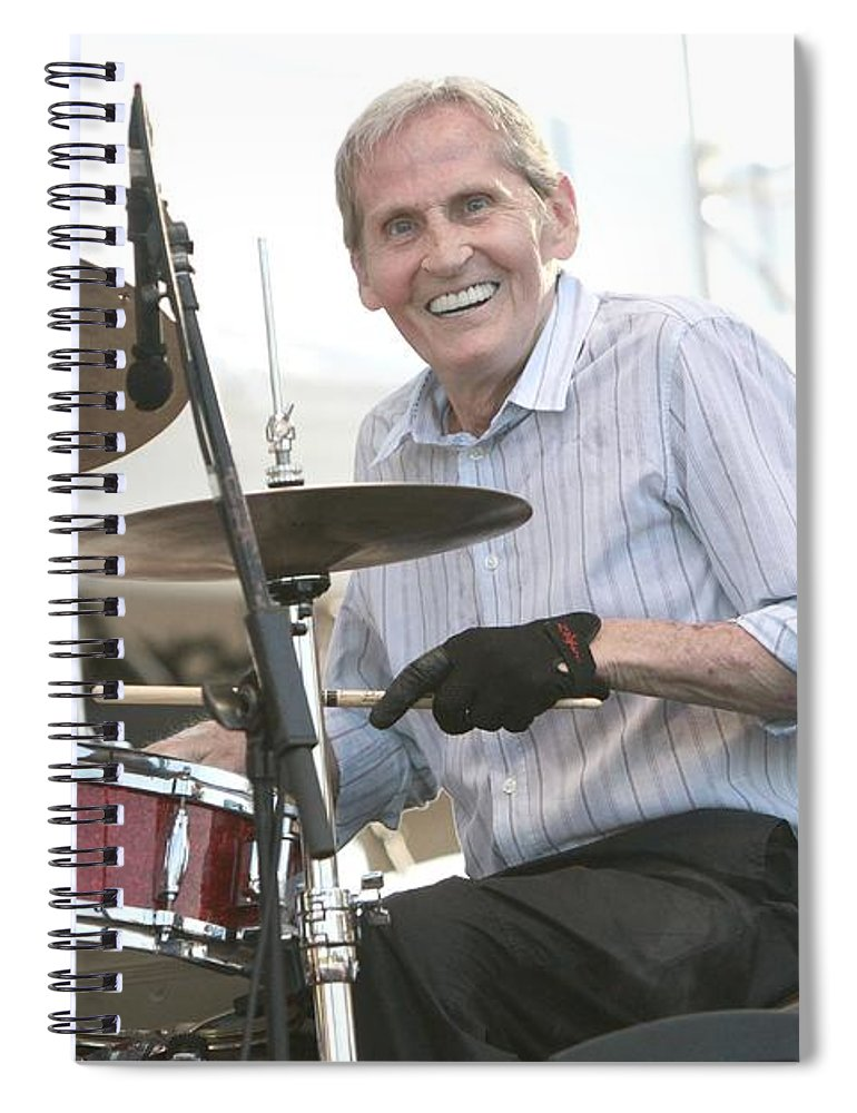 Blues Spiral Notebook featuring the photograph Levon Helm Band by Concert Photos