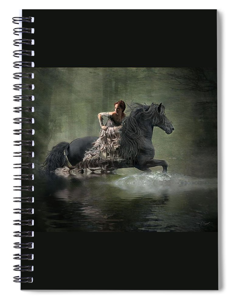 Girl Fleeing On Horse Spiral Notebook featuring the photograph Liberated by Fran J Scott