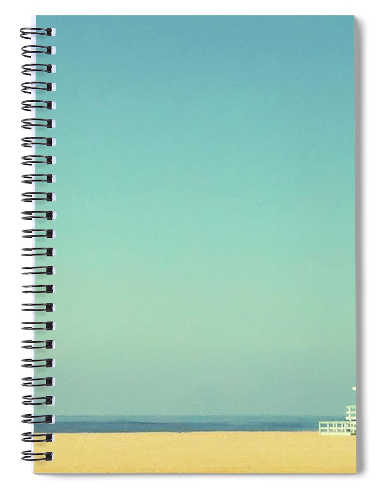 Tranquility Spiral Notebook featuring the photograph Life Guard Tower by Denise Taylor