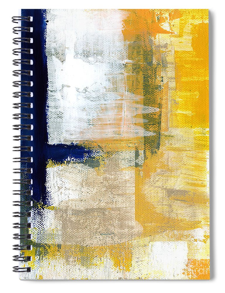 Abstract Spiral Notebook featuring the mixed media Light Of Day 1 by Linda Woods