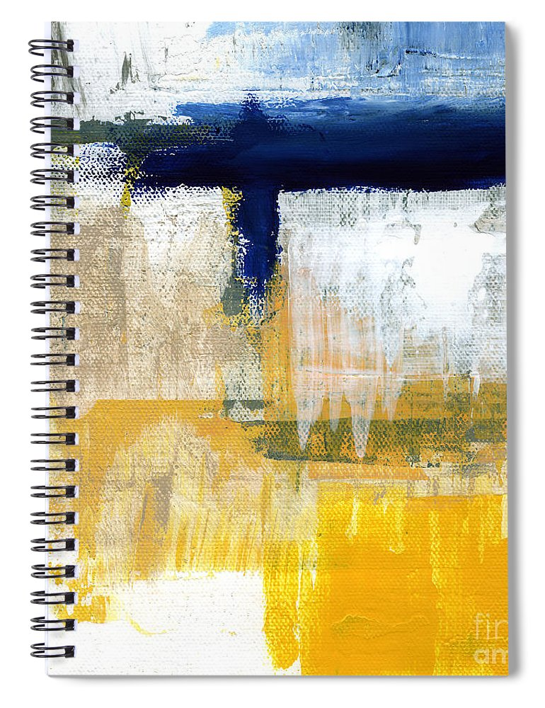 Abstract Spiral Notebook featuring the painting Light Of Day 2 by Linda Woods