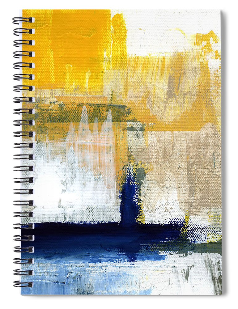 Abstract Spiral Notebook featuring the painting Light Of Day 4 by Linda Woods