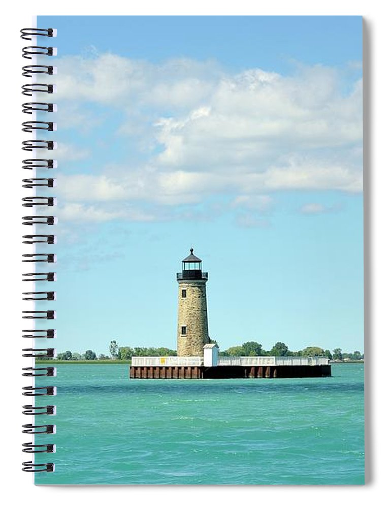 Scenics Spiral Notebook featuring the photograph Lighthouse Lake St. Clair by Rivernorthphotography