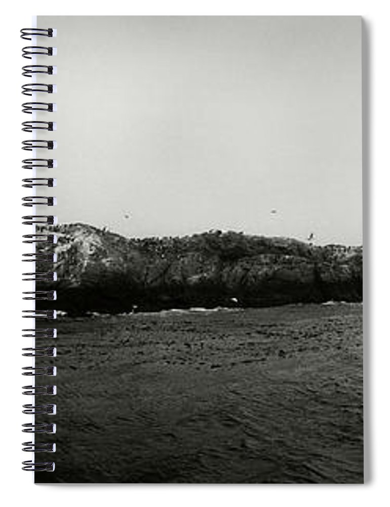 Photography Spiral Notebook featuring the photograph Lighthouse On Small Island In Sea, Les by Panoramic Images
