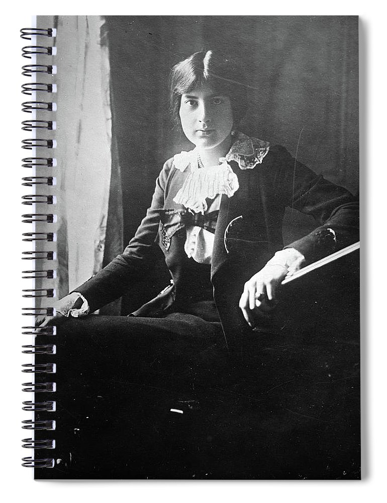 1918 Spiral Notebook featuring the photograph Lili Boulanger (1893-1918) by Granger