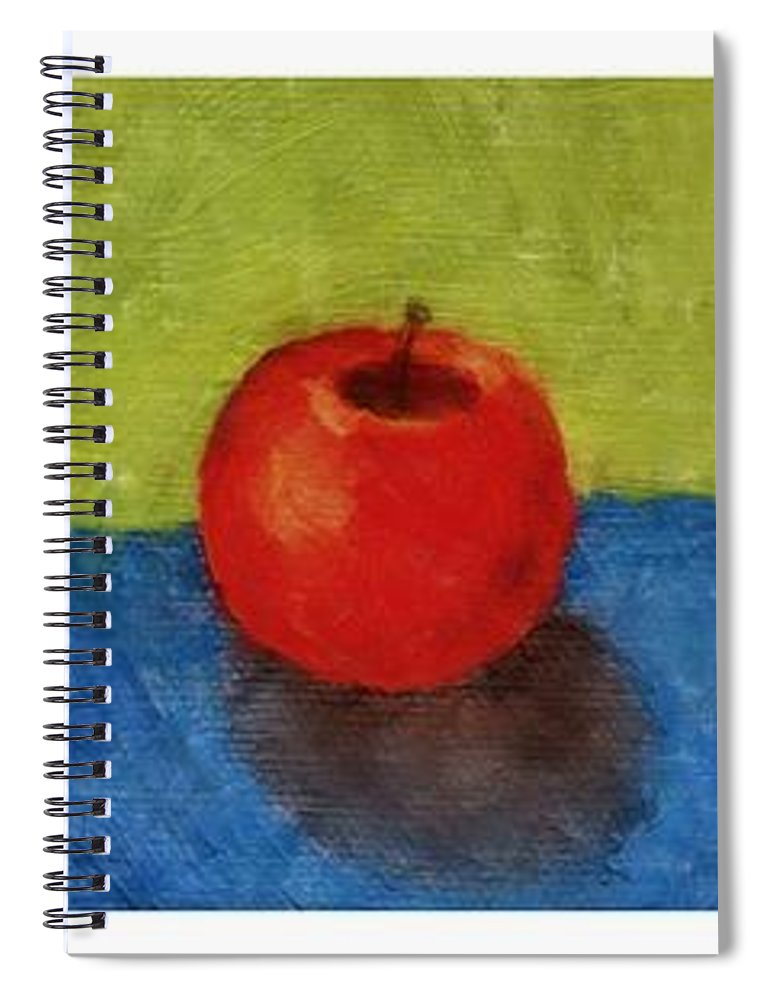 Lime Spiral Notebook featuring the painting Lime Apple Lemon by Michelle Calkins