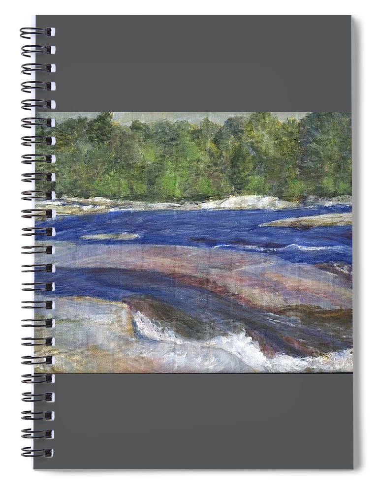 Moose River Spiral Notebook featuring the painting Little Rapids by Sheila Mashaw