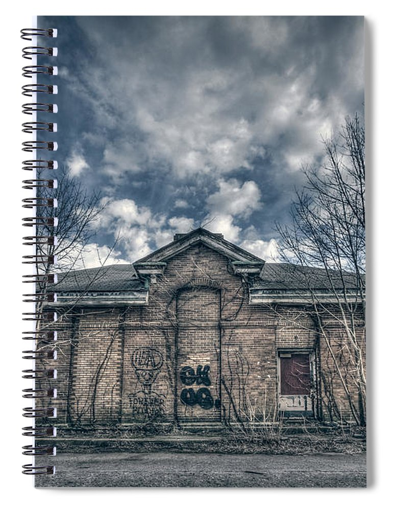 Kings Park Spiral Notebook featuring the photograph Locked Up Forever by Evelina Kremsdorf