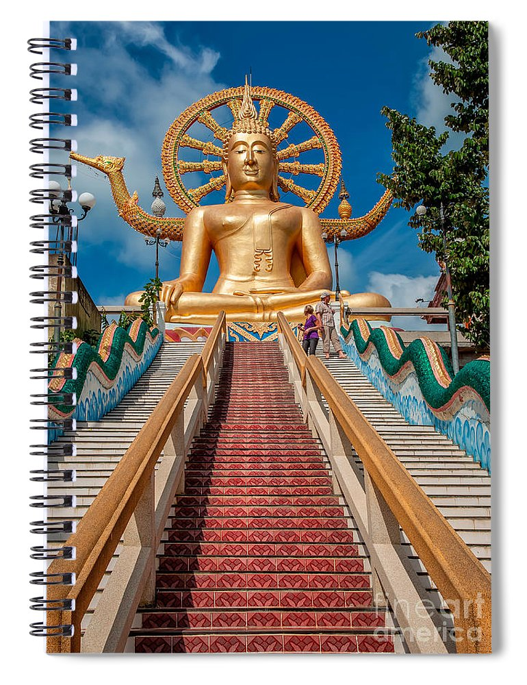 Buddha Spiral Notebook featuring the photograph Lord Buddha by Adrian Evans
