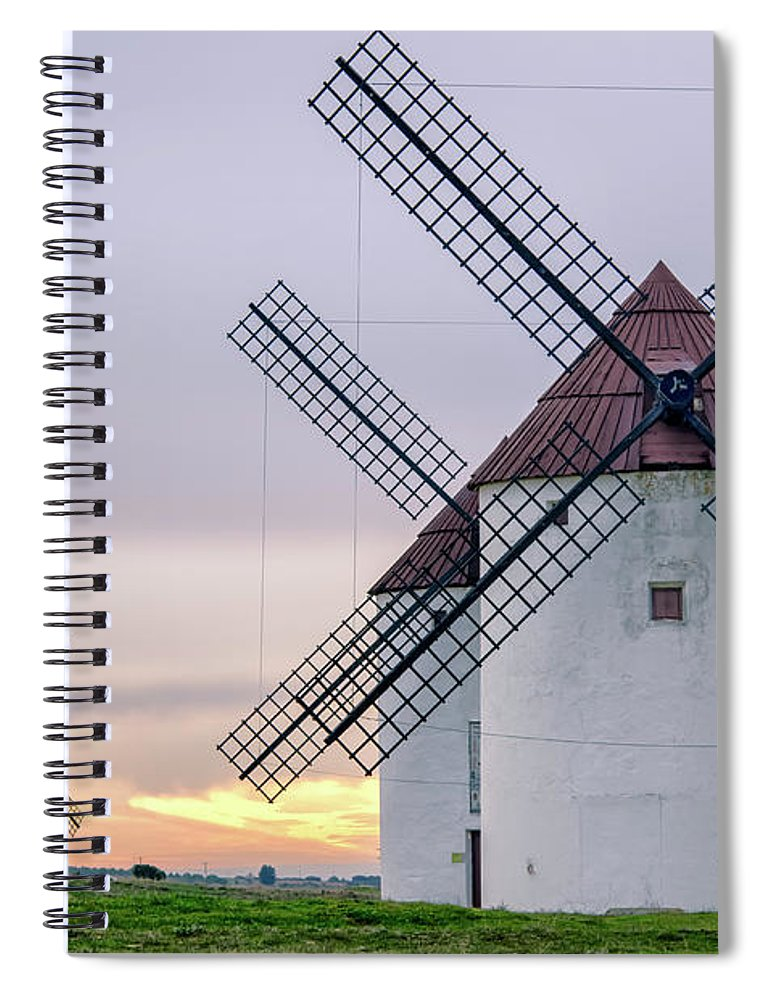 Environmental Conservation Spiral Notebook featuring the photograph Los Gigantes Del Quijote by Eddy Photo